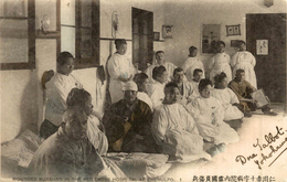 WOUNDED RUSSIANS IN THE RED CROSS HOSPITAL  JAPANESE RUSSIAN WAR   Russa Rusia Rusland RUSSE RUSSIE - Rusia