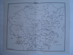 CHINA MAP - CHINA 1950 APROX. C. S. HAMMOND & CO. 28X21,5 CM. FRENCH INDOCHINA. - World