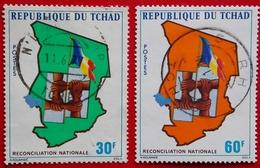 République Du Tchad .  Y&T 313 - 314 (o) Réconciliation Nationale Oblitération SARH - Chad (1960-...)