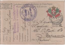 VENDO N.1CARTOLINA MILITARE DELLA DIREZIONE LANCIAFIAMME,COMPAGNIA D'ISTRUZIONE - Guerra 1914-18