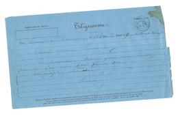 Télégramme De CHATEAUROUX à  LEVROUX Thomas Notaire 36 Indre Cachet Du 25 Janvier 1882 Timbre A Date Mod N° 324 OBERTHUR - Other