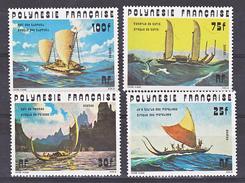 Polynésie Française 111 114 Pirogues Des Marquises  Gomme Tropicale Neuf * * TB  MNH Cote 24 - Neufs