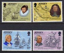 GB JERSEY - 1976 LINKS TO AMERICA SET (4V) SG 160-163 FINE MNH **