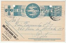 Postal Stationery * Portugal * Alcobaça * 1941 * Sapataria Elegante * Holed - Postal Stationery