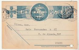 Postal Stationery * Portugal * Villa Moreira * 1941 * Holed