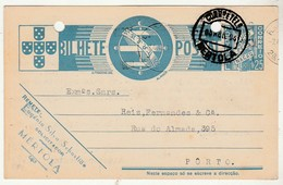Postal Stationery * Portugal * Mértola * 1940 * Error On The Date ''04'' * Holed
