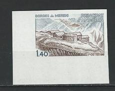 "Andorre Non Dentelé YT 291a "" Architecture "" 1981 Neuf** - French Andorra"
