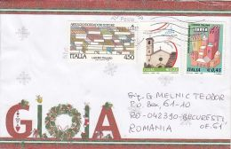 BOOKS, OLYMPIC GAME, CHURCH, STAMPS ON JOY SPECIAL COVER, 2014, ITALY