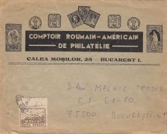 ROMANIAN-AMERICAN  PHILATELIC SOCIETY HEADER, CHALET STAMP ON OLD COVER, 1993, ROMANIA
