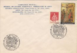 CONSTANTA-TOMIS TOWN ANNIVERSARY SPECIAL POSTMARK, FLASK, ICON STAMPS ON COVER, 1991, ROMANIA