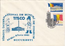 BUCHAREST INTERNATIONAL FAIR, SPECIAL COVER, 1991, ROMANIA