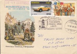 TIMISOARA FIRST FREE CITY, 1989 REVOLUTION, SPECIAL COVER, 2000, ROMANIA