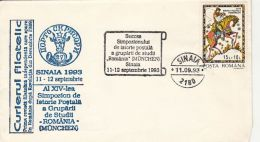 POSTAL HISTORY SYMPOSIUM, SPECIAL COVER, 1993, ROMANIA