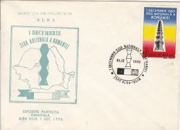 NATIONAL DAY CELEBRATION, SPECIAL COVER, 1990, ROMANIA