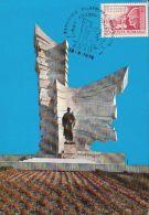 PAULIS HEROES MONUMENT, CM, MAXICARD, CARTES MAXIMUM, 1979, ROMANIA