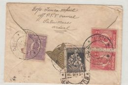 KING FERDINAND, SOCIAL ASSISTANCE, STAMPS ON REGISTERED COVER, 1924, ROMANIA