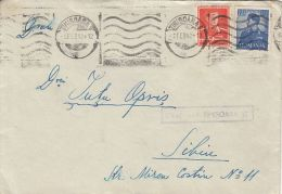 KING MICHAEL, CENSORED TIMISOARA NR 12, STAMPS ON COVER, 1942, ROMANIA