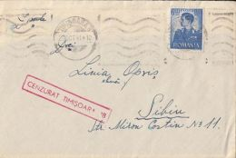 KING MICHAEL, CENSORED TIMISOARA NR 18, STAMPS ON COVER, 1941, ROMANIA