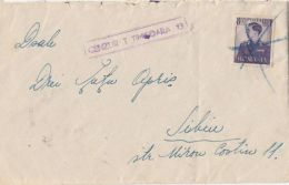 KING MICHAEL, CENSORED TIMISOARA NR 13, STAMPS ON COVER, 1942, ROMANIA