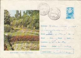 BUCHAREST CISMIGIU GARDENS, FLOWERS, COVER STATIONERY, ENTIER POSTAL, 1971, ROMANIA