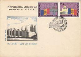 ORGANIZATION, EUROPEAN COOPERATION, MOLDAVIAN MEMBERSHIP, COVER FDC, 1992, MOLDOVA