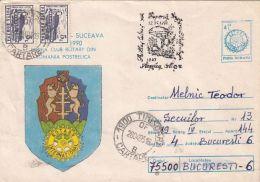 ORGANIZATION, ROTARY INTERNATIONAL, MUSHROOMS POSTMARK, COVER STATIONERY, ENTIER POSTAL, 1993, ROMANIA