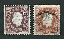 CAPO VERDE 1886 - King Luis I Of Portugal - 40/100 Reis - Yt:CV 19/21 - Isola Di Capo Verde