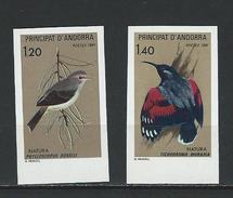 "Andorre Non Dentelé YT 294 Et 295 ""Oiseaux "" 1981 Neuf** - French Andorra"
