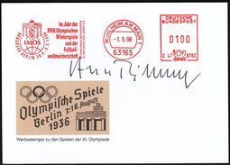 Germany Mühlheim Am Main 1998 / IMOS Congress Berlin / Year Of Olympic Games And World Football Champ. / Machine Stamp