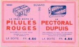 Buvard Vloeipapier - Pillules Rouge - Pectoral Dupuis - Produits Pharmaceutiques