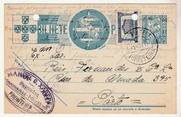 Postal Stationery * Portugal * Fronteira * Fazendas * Mercearias * 1941 * Holed