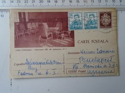 D150180 Romania  -Postal Stationery - Constanta  Gara- Railway Station  1960