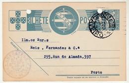 Postal Stationery * Portugal * Aveiro * Luzostela * Fabrica De Lixa * 1941 * Holed