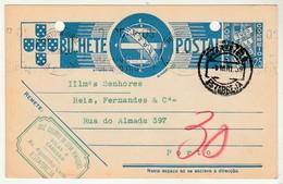 Postal Stationery * Portugal * Estarreja * Solas E Cabedais * 1939 * Holed