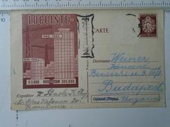 D150185 Romania  -Postal Stationery  - Cluj -  Locuinte - Par Avion -ca 1960