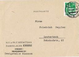 24466. Tarjeta Privada GIESSEN (alemania Zona Anglo Americana) 1948. Fabriklager - Zona Anglo-Américan