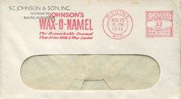 21986 U.s.a. Red Meter/ema/racine 1940 Johnson's Wax - O- Namel ,  Circuled Cover - United States