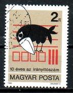 HONGRIE. N°2847 De 1983 Oblitéré. Corbeau/Code Postal.
