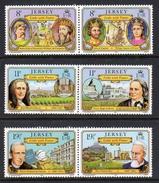 GB JERSEY - 1982 LINKS WITH FRANCE SET (6V) SG 293-298 FINE MNH **