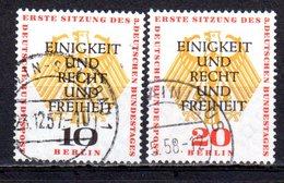Berlin 1957 Mi. 174-175 Bundestag Gestempelt (br1526)