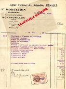 86- MONTMORILLON- FACTURE AUTOMOBILES RENAULT- F. ROBUCHON-BD STRASBOPURG- 1932 - Cars