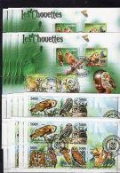 20x Central Africa/Comoro -Owls,birds,nature - CTO