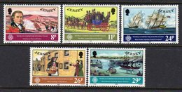 GB JERSEY - 1983 WORLD COMMUNICATIONS YEAR SET (5V) SG 314-318 FINE MNH **