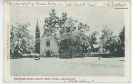 AUSTRALIE - TASMANIA - QUEENSTOWN - The Presbyterian Church (Snow Scene ) - Australie