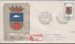 3143  FDC Certificado Madrid 1964 Escudo Ifni - Ifni