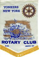 Banner:   YONKERS NEW YORK.  ETATS-UNIS.       * ROTARY CLUB INTERNATIONAL * - Organisations