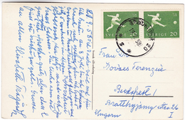 949 Sweden 1958 World Football Championship Stamps Mi 439 On Postcard Stortorp Convalescent Home Centre De Convalescence