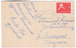 950 Sweden 1958 World Football Championship Stamp Mi 438 On Postcard