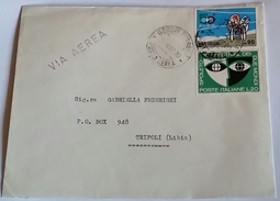 ITALIA 1967 - (280) LETTERA  PER LA LIBIA POSTA AEREA