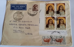 ITALIA 1967 - (282) LETTERA  PER LA LIBIA POSTA AEREA